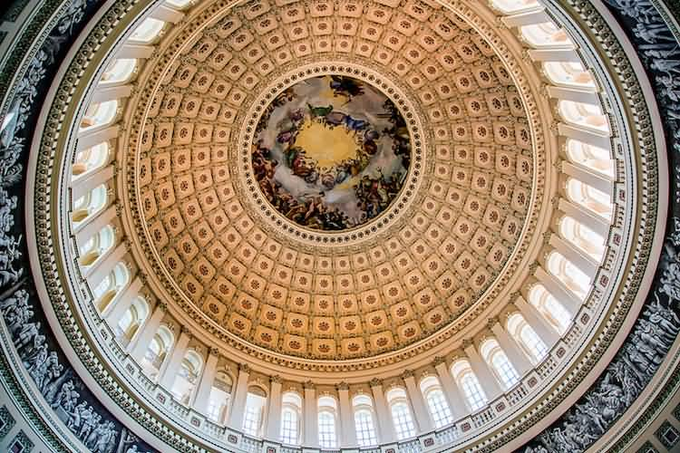 Beautiful Dome Inside The United States Capitol