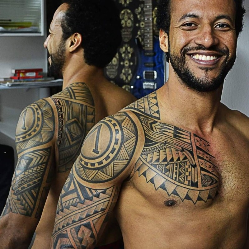 11d168ab99fbe Beautiful Maori Tribal Tattoo For Men