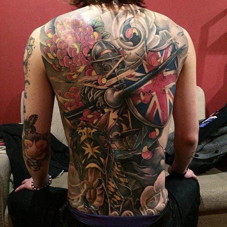 England Sleeve Tattoo Designs: 50+ Patriotic Tattoos Ideas