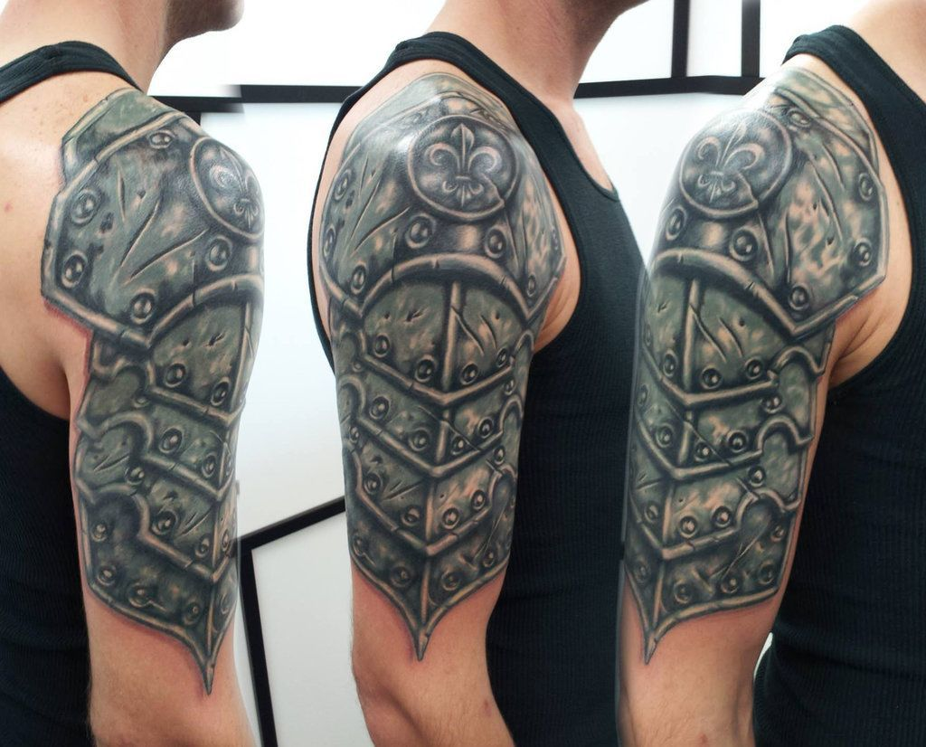 30 medieval armor tattoos ideas. Black Bedroom Furniture Sets. Home Design Ideas