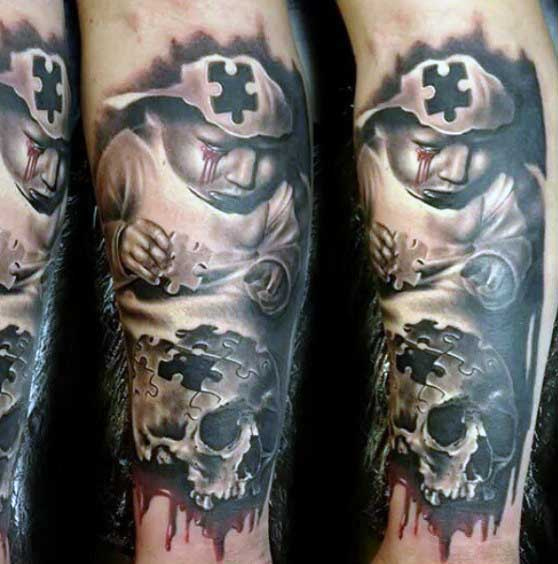 28+ Puzzle Tattoos For Sleeve