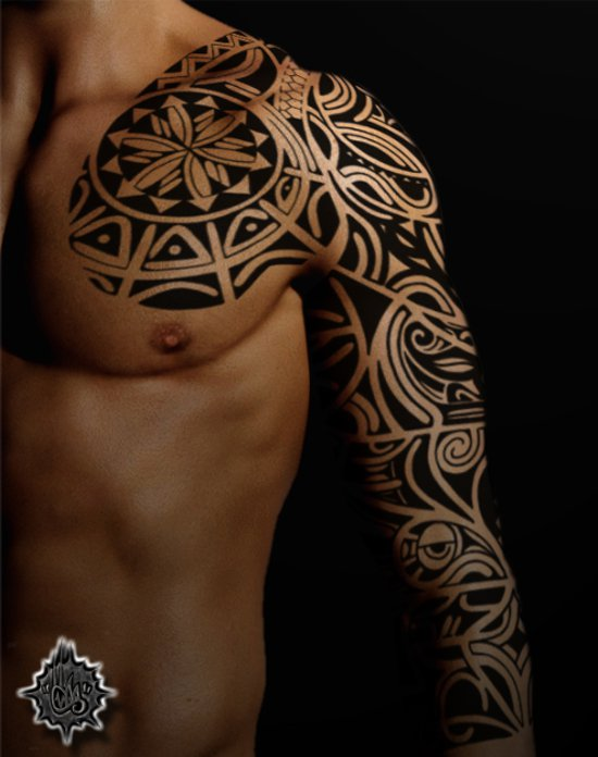 Maori Tribal Tattoo Designs Chest: 30+ Maori Arm Tattoos Collection