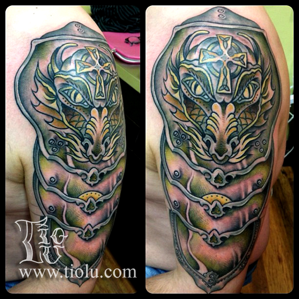 Scottish Tattoo Ideas Half Sleeve: 30+ Medieval Armor Tattoos Ideas