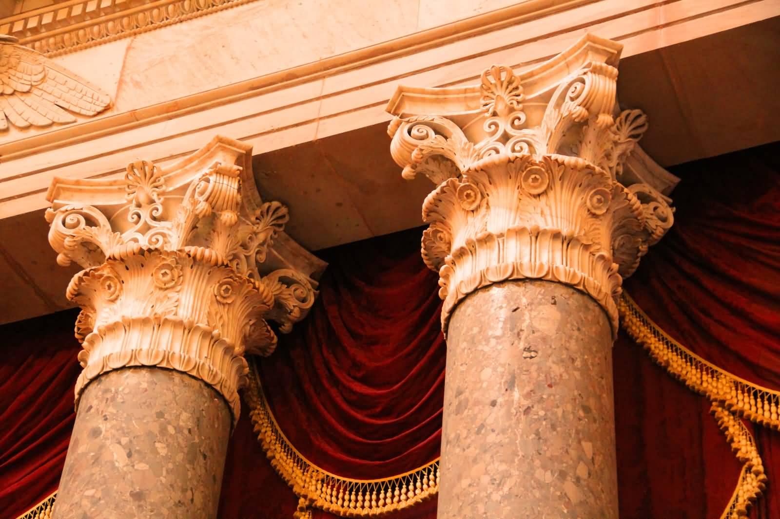 Columns Inside United States Capitol