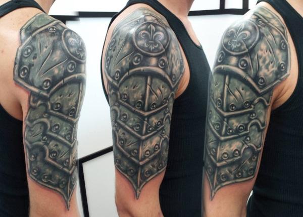 26 Armor Shoulder Knight Tattoo