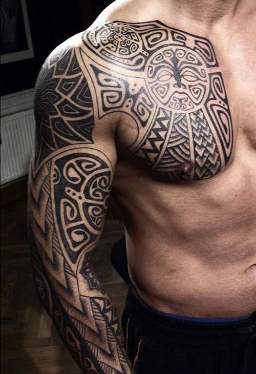 Cool Maori Tribal Tattoo For Men