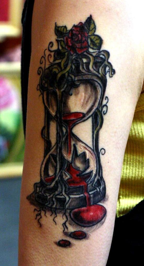 Broken hourglass tattoo  40+ Hourglass Tattoos Ideas