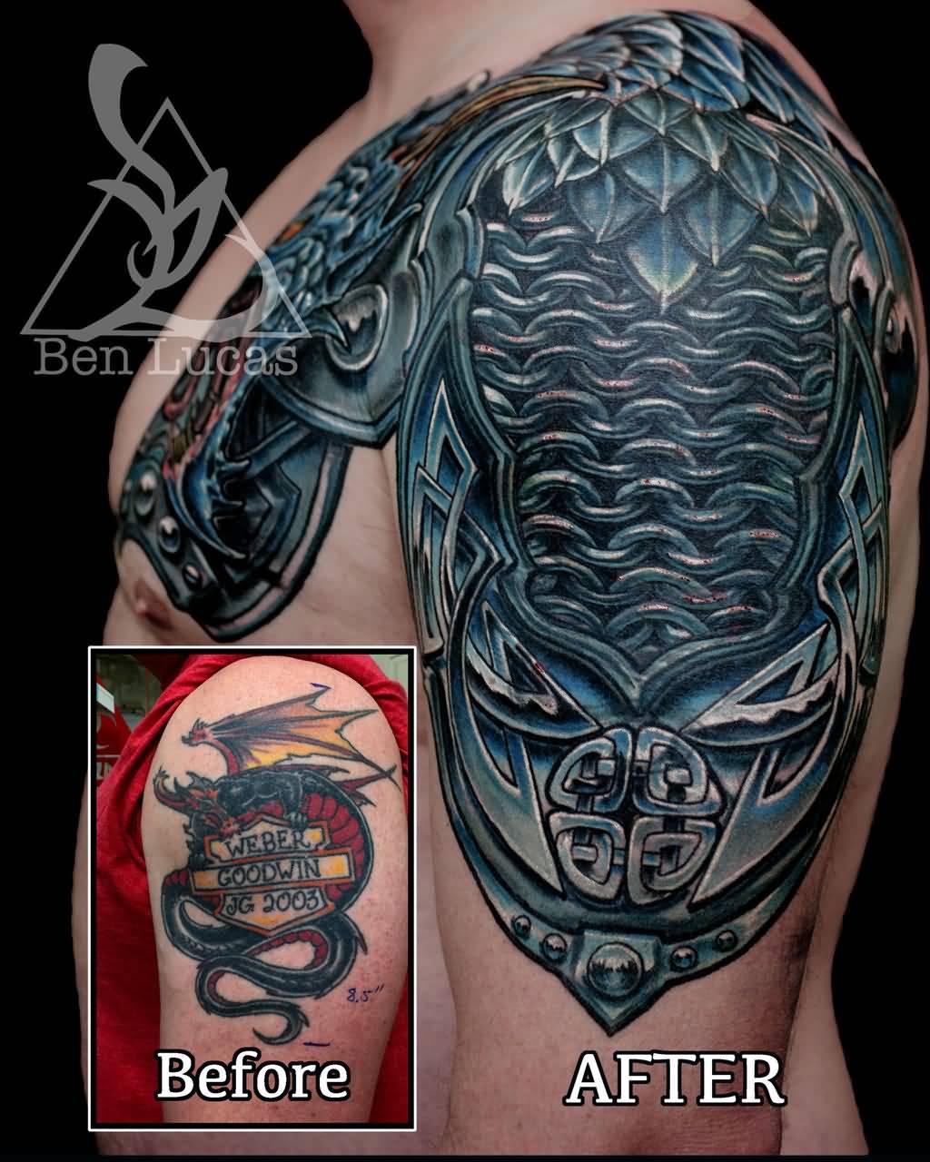 30+ Medieval Armor Tattoos Ideas