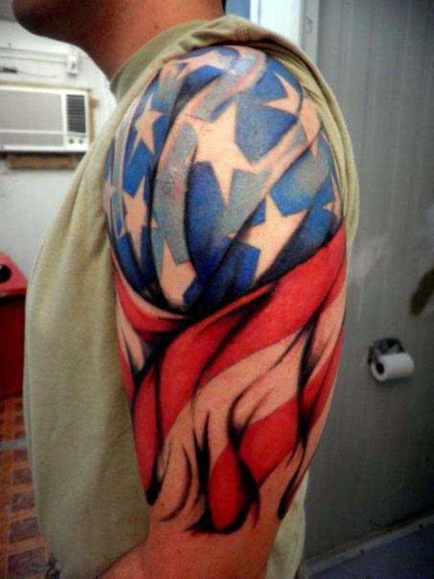 50 patriotic tattoos ideas for Patriotic tribal tattoos
