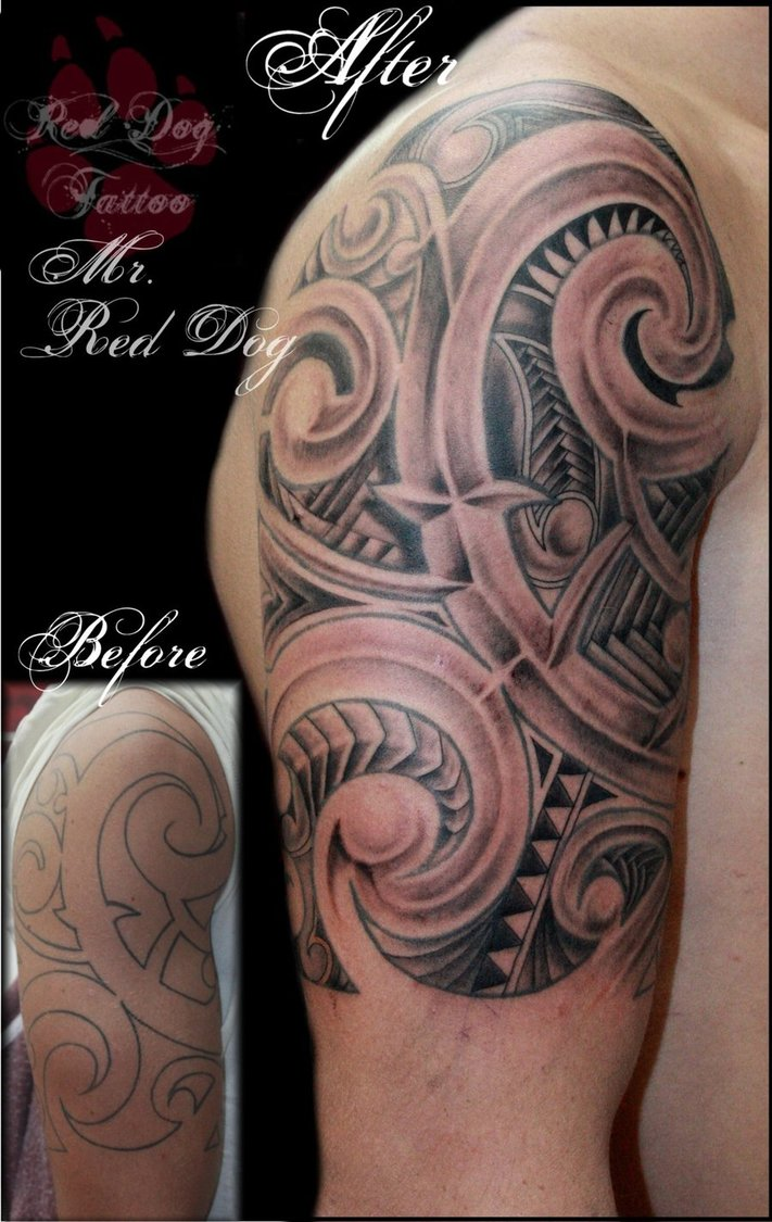 Tribal-Tattoos Fantastic-Maori-Tribal-Tattoo-By-Reddogtattoo