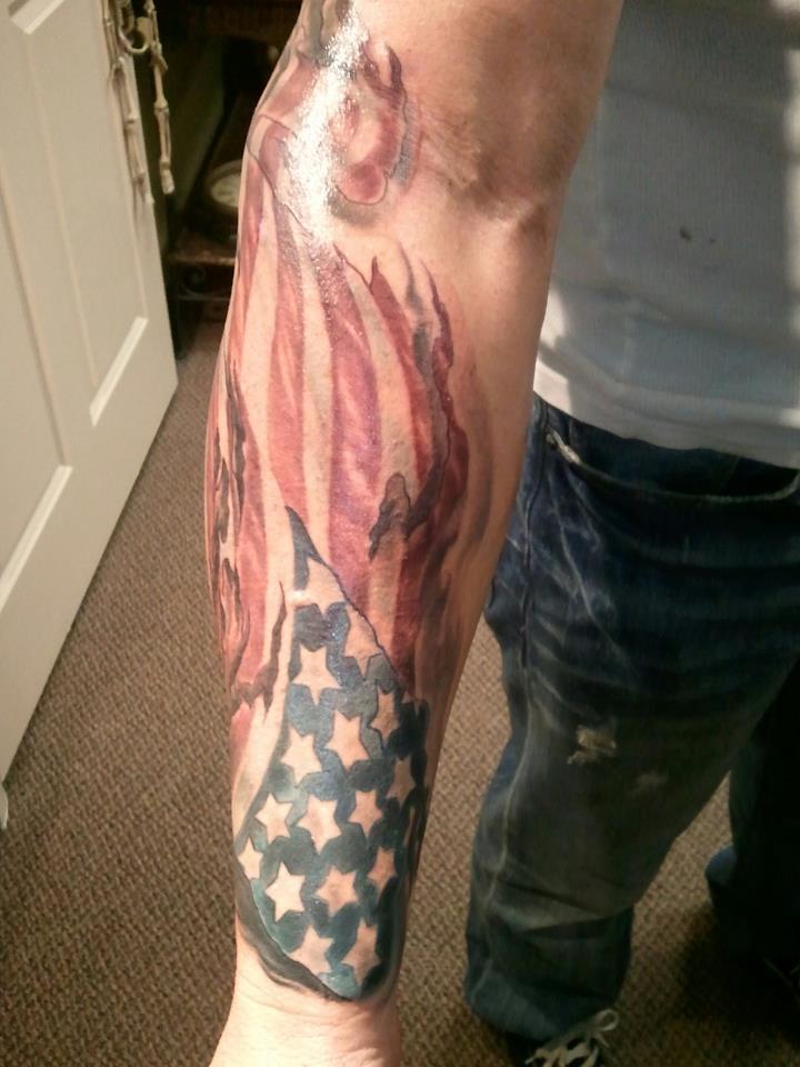 35 patriotic tattoos on sleeve for Tattoos on right arm