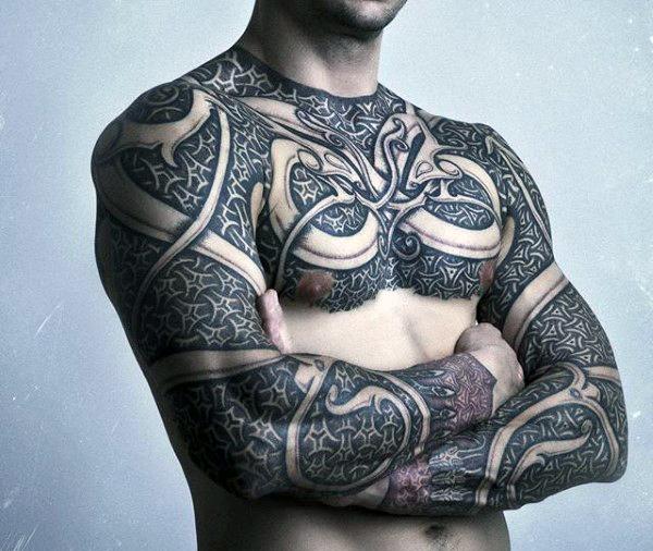 Armor Tattoo full body armor tattoo for men