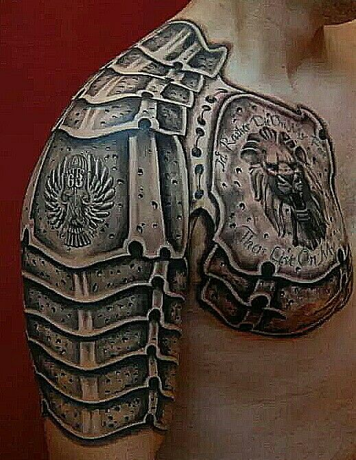 60 wonderful armor tattoos. Black Bedroom Furniture Sets. Home Design Ideas