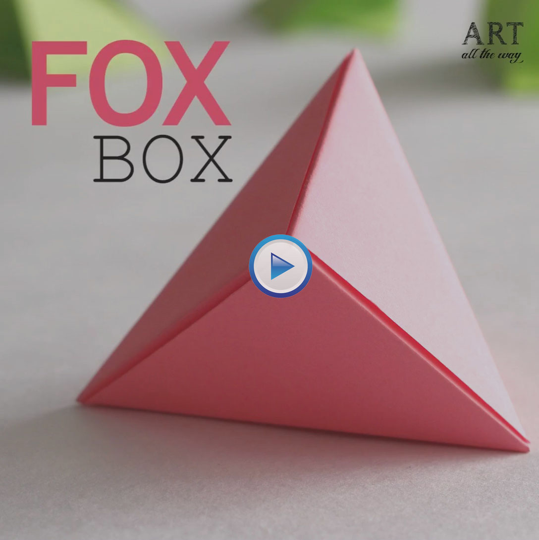 How to create 3D triangle – origami Fox Box?