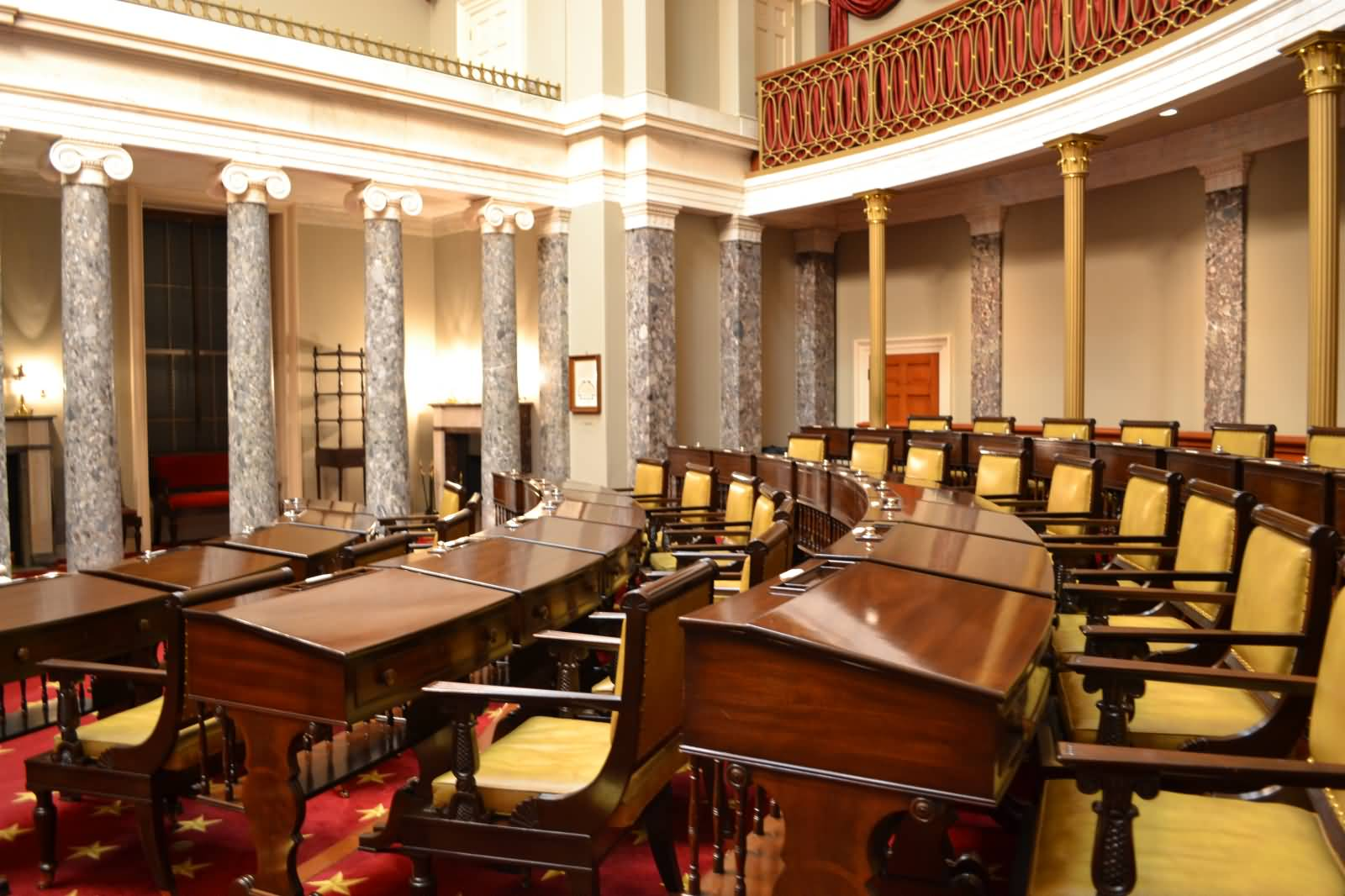 Inside The United States Capitol Old Senate Chambers Picture