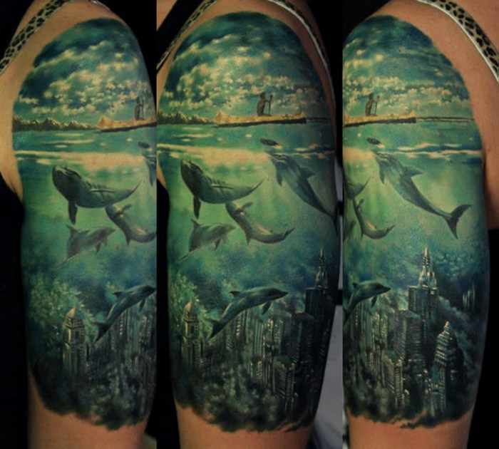 30+ Realistic Water Tattoos