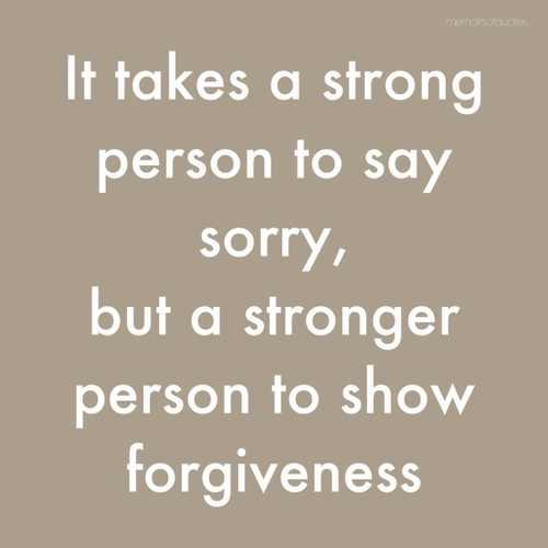Image result for strong to apologize