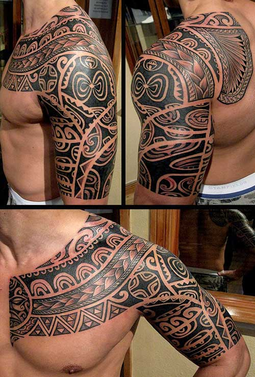 Maori Tribal Tattoo Designs Chest: 45+ Amazing Maori Tattoos