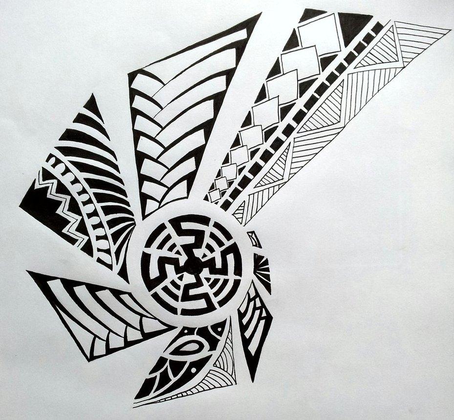 maori tattoo design by studiumdesign. Black Bedroom Furniture Sets. Home Design Ideas