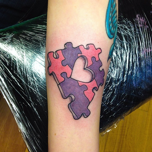 28+ Heart Puzzle Tattoos