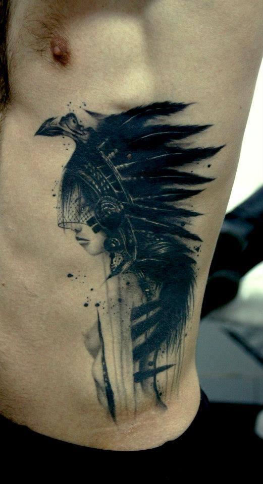 53 awesome rib cage tattoos for Girl rib tattoo ideas