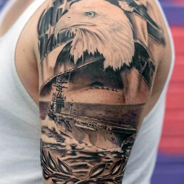 25+ Patriotic Tattoos On Half Sleeve