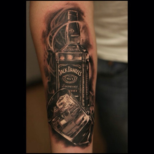Small Bottle Tattoo: 60+ Incredible Glass Tattoos And Ideas