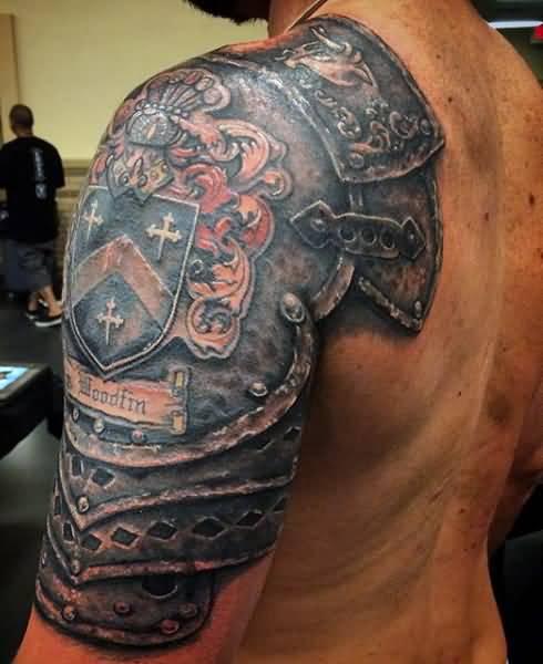 Shoulder Tattoos For Men: 60+ Wonderful Armor Tattoos