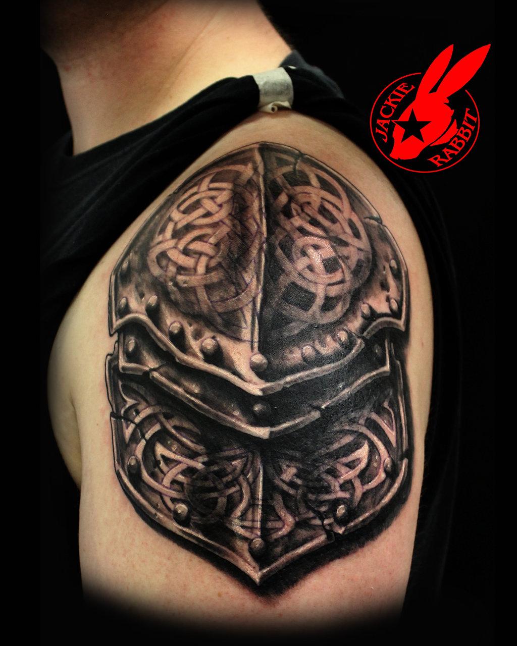 26 armor shoulder knight tattoo. Black Bedroom Furniture Sets. Home Design Ideas