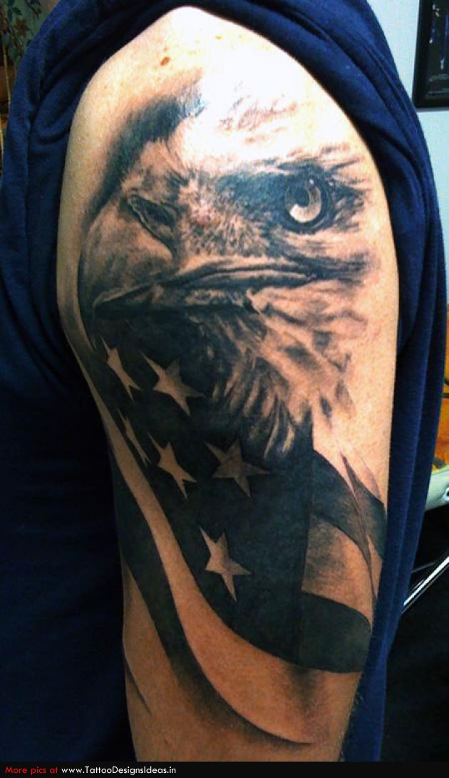 36 patriotic eagle tattoos for Eagle tattoo arm