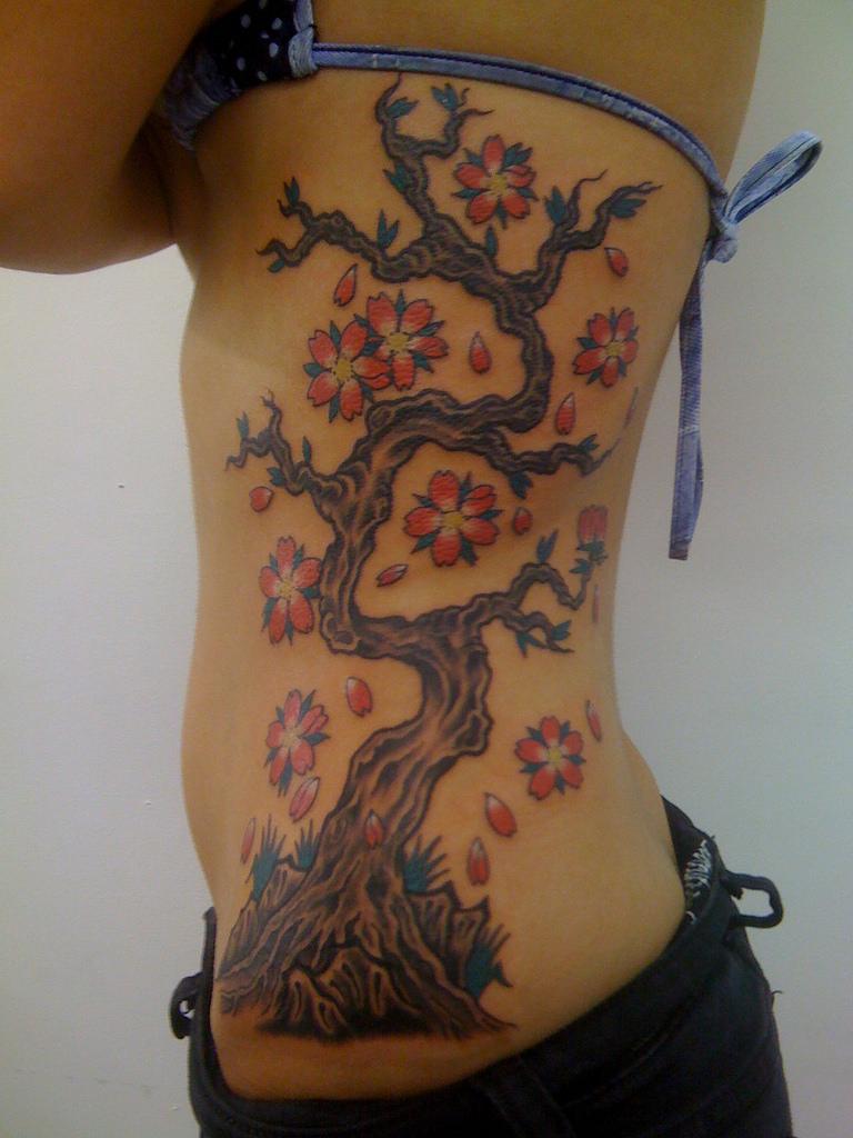 30 Tree Rib Cage Tattoos