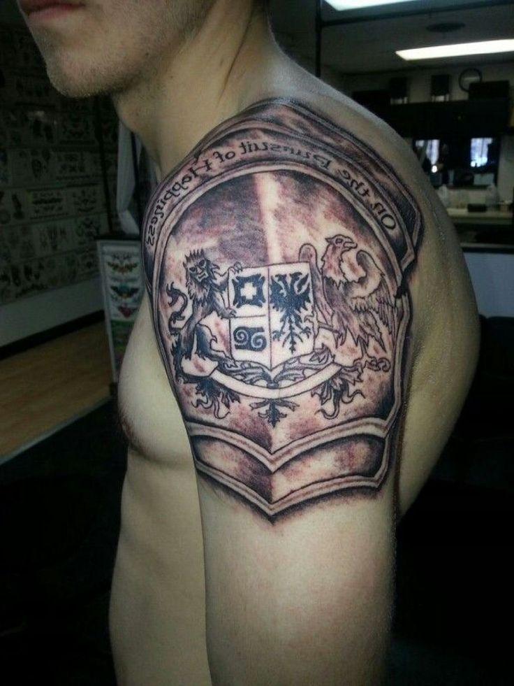 fbe4d2165af64 Samurai Armor Tattoo On Shoulder For Men