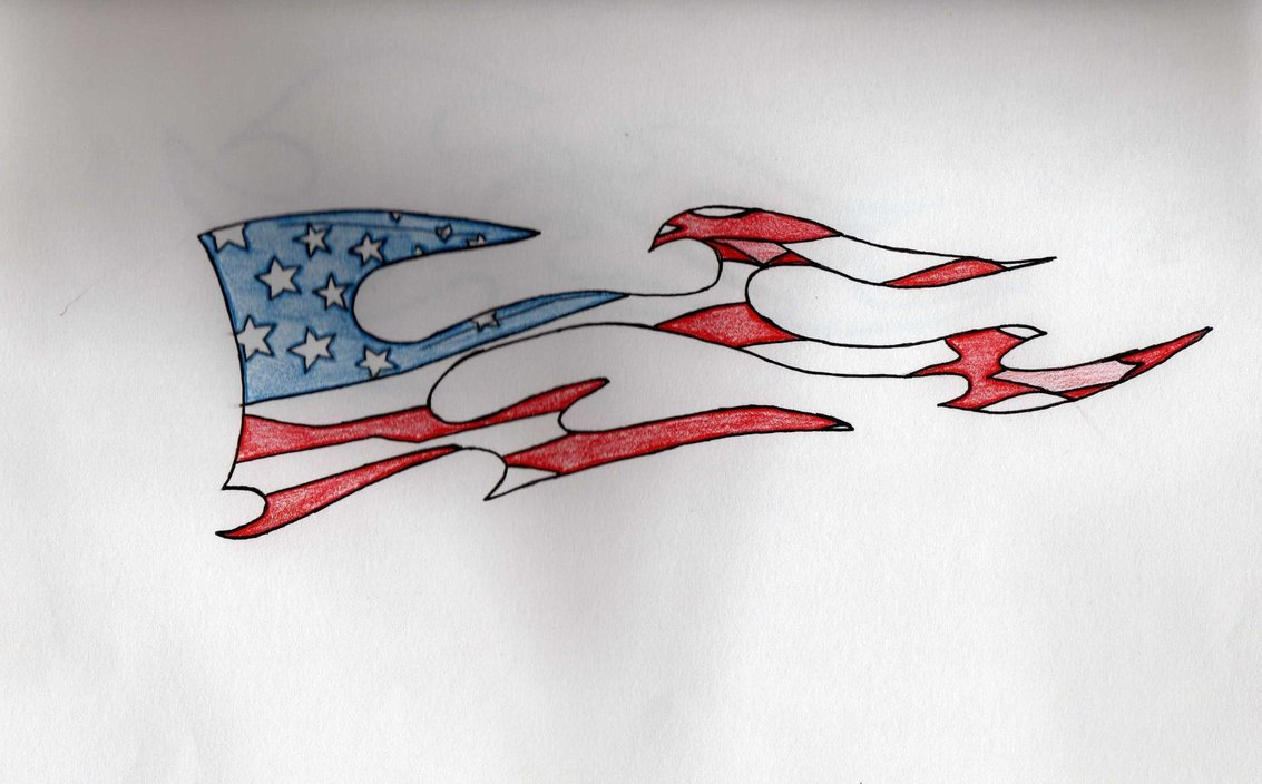 20 us flag tattoo designs for Patriotic tribal tattoos