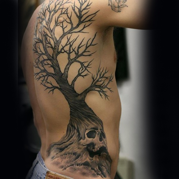 30 Tree Rib Cage Tattoos