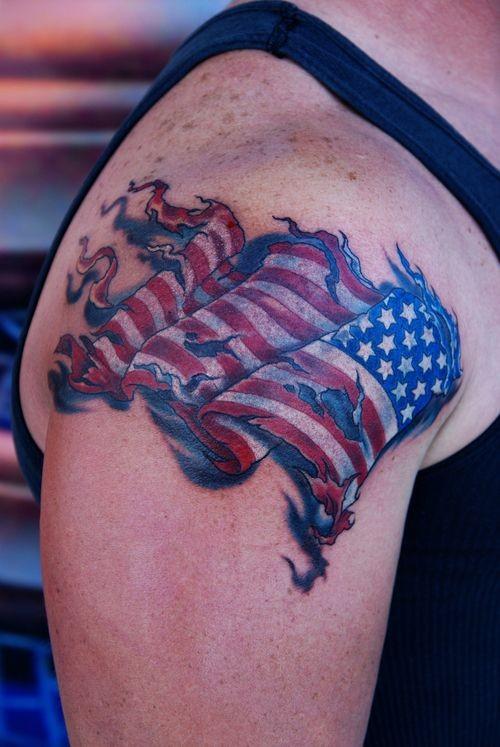 55 Heroic American Flag Tattoos - Tattoo Easily