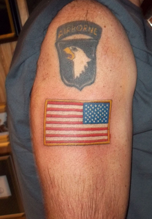 40 us flag tattoos on shoulder for Tattoos on right arm