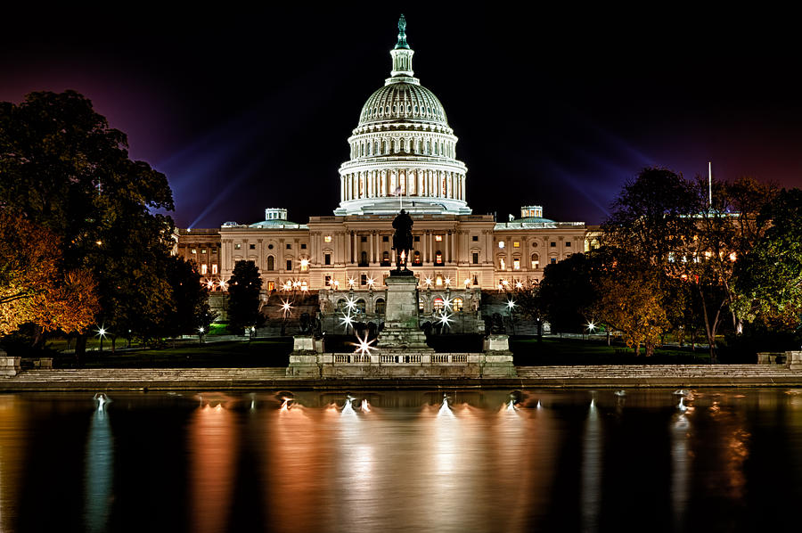 United States Capitol Night View