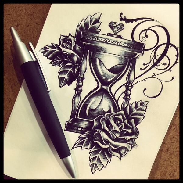 40+ Hourglass Tattoos Ideas