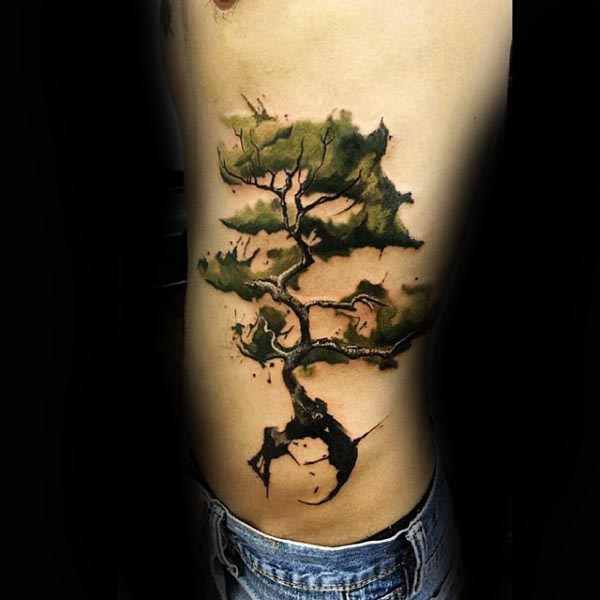 The 60 Best Rib Tattoos For Men: 30+ Tree Rib Cage Tattoos