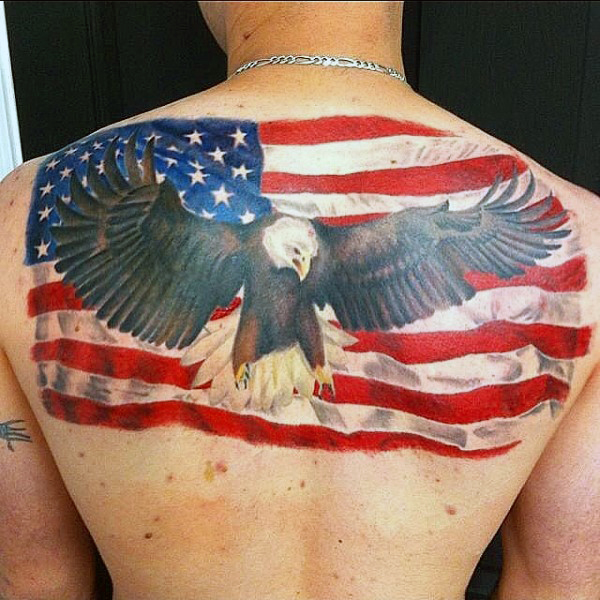 American flag eagle tattoos