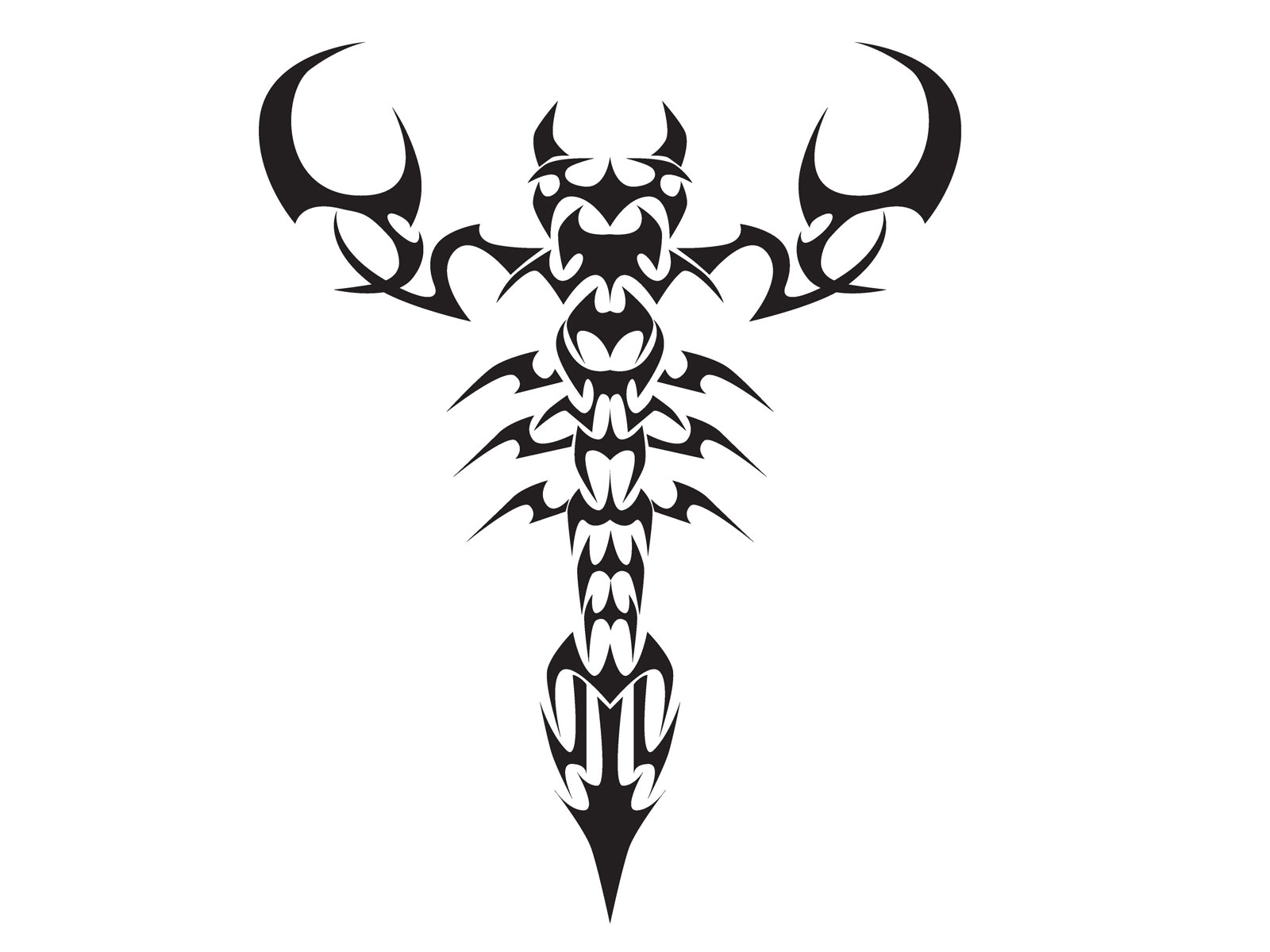 Tribal-Tattoos Zodiac-Scorpio-Tattoo-Design