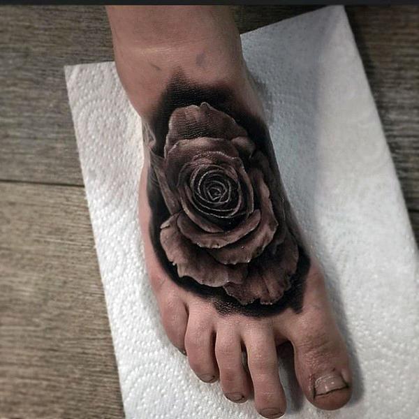55 beautiful rose tattoos on foot 3d black rose tattoo on foot for men mightylinksfo