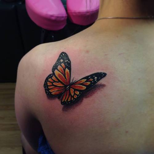 d65f99836 65+ Wonderful Butterfly Tattoos For Girls