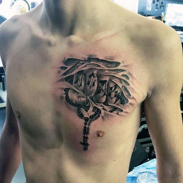 52+ Rosary Tattoos For Men