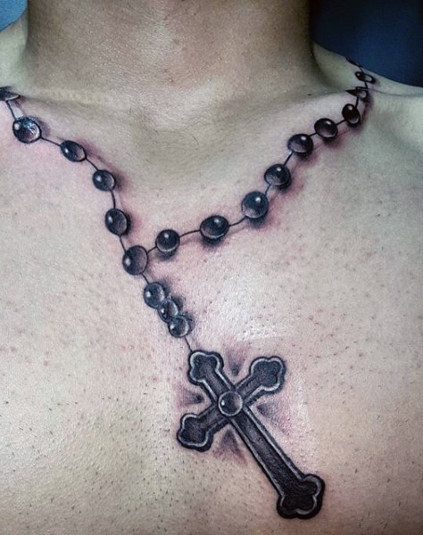52 rosary tattoos for men. Black Bedroom Furniture Sets. Home Design Ideas