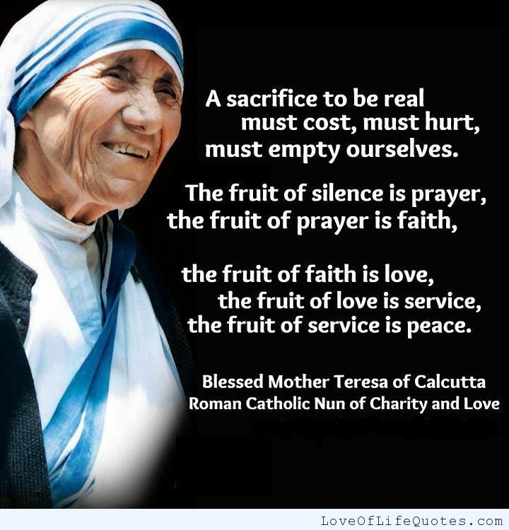 Quote From Mother Teresa: 62 Top Sacrifice Quotes & Sayings