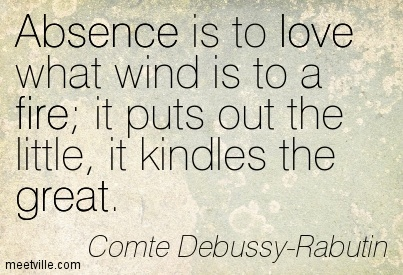 Image result for quotes about absence