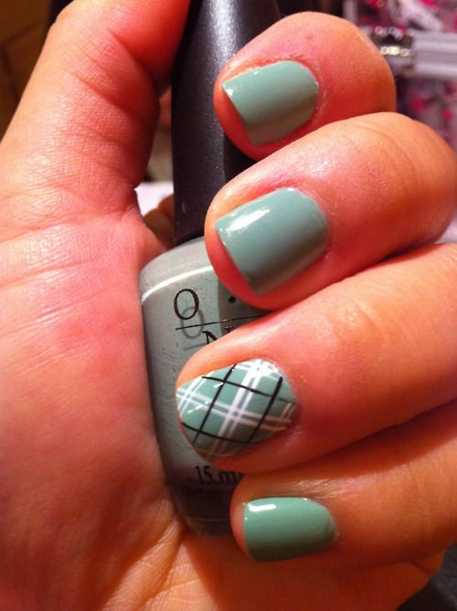 Art Designs: 55 Incredible Plaid Print Nail Design Ideas For Girls