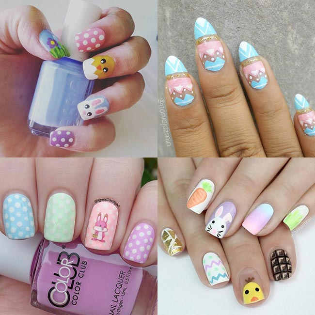 Adorable Easter Nail Art Ideas - 55 Most Beautiful Easter Nail Art Design Ideas
