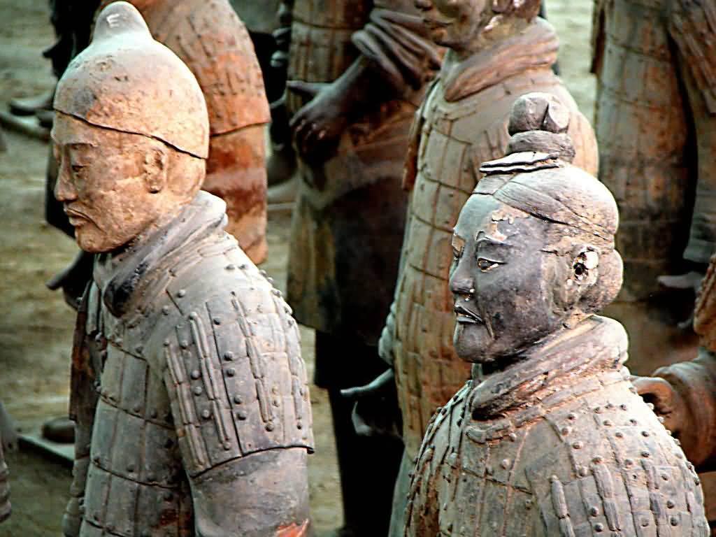 نتيجة بحث الصور عن Chinese Army Statues